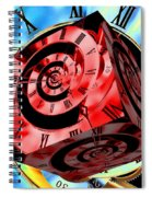 Infinity Time Cube Red On Blue Spiral Notebook