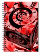 Infinity Time Cube Red Spiral Notebook