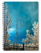 Infrared Summer Storm Spiral Notebook