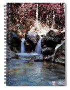 Infrared Waterfall Spiral Notebook