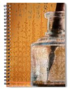 Ink Bottle Calligraphy Spiral Notebook