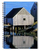 Inlet At Peggys Cove Nova Scotia Spiral Notebook