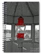 Inside The Lighthouse Tower #2. Uostadvaris. Lithuania. Spiral Notebook