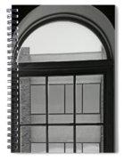 Interior - Windows In Black And White Spiral Notebook