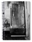 Interior In Black And White Spiral Notebook