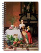 Interior With Figures And Fruit Spiral Notebook