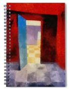 Interior With Red Walls Spiral Notebook