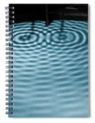 Intersecting Ripples Spiral Notebook