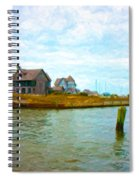Into The Marina Spiral Notebook