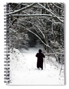 Into The Snowy Forest Spiral Notebook
