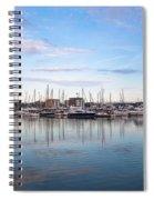 Ipswich Marina Dusk Spiral Notebook