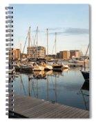 Ipswich Marina Sunset Spiral Notebook