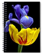 Iris And Tulip Spiral Notebook