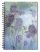 Iris In The Spring Rain Spiral Notebook