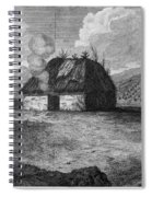 Irish Cabin, 18th Century Spiral Notebook
