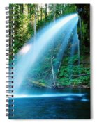 Iron Creek Falls From The Side  Spiral Notebook