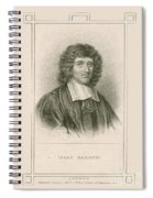 Isaac Barrow, English Mathematician Spiral Notebook