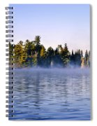 Island In Lake With Morning Fog Spiral Notebook
