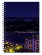 Istrian Riviera At Night Spiral Notebook