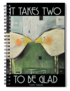 It Takes Two - Beak To Beak Spiral Notebook