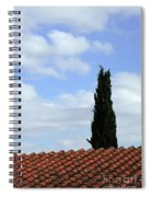 Italian Cyress And Red Tile Roof Rome Italy Spiral Notebook