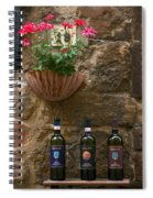 Italian Wine And Flowers Spiral Notebook
