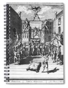 Italy: Acrobats, C1722 Spiral Notebook