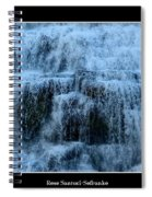 Ithaca Falls New York Closeup Spiral Notebook