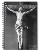 Ivory Crucifix Spiral Notebook