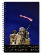Iwo Jima Memorial Front View Spiral Notebook