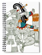 Iztlacoliuhqui, Aztec God Of Frost Spiral Notebook
