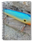 J And J Flop Tail Vintage Saltwater Fishing Lure - Blue Spiral Notebook