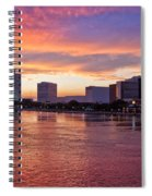 Jacksonville Skyline At Dusk Spiral Notebook