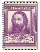 James Russell Lowell Spiral Notebook