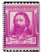 James Russell Lowell Postage Stamp Spiral Notebook