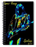 James Young In Spokane 1977 Spiral Notebook
