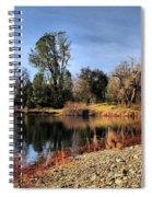 January Bass Pond 2012 Spiral Notebook