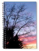 January Silhouette Spiral Notebook