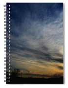 January Sunset 2012 Spiral Notebook