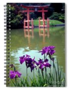 Japanese Garden Brooklyn New York Spiral Notebook