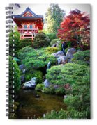 Japanese Garden With Pagoda And Pond Spiral Notebook