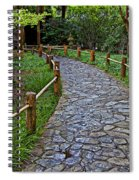 Japanese Tea Garden Path Spiral Notebook