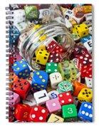 Jar Spilling Dice Spiral Notebook