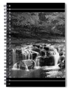 Java Falls Monochrome Spiral Notebook