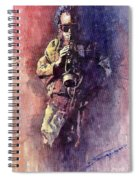 Jazz Miles Davis Maditation Spiral Notebook