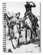 J.c. Fremont And His Guide, Kit Carson Spiral Notebook