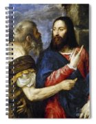 Jesus & Tribute Money Spiral Notebook