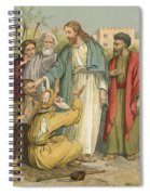 Jesus And The Blind Men Spiral Notebook