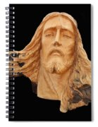 Jesus Christ Wooden Sculpture -  Four Spiral Notebook