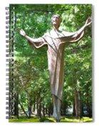 Jesus Statue Spiral Notebook